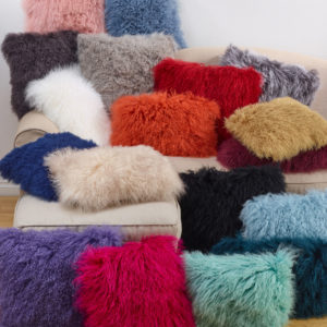 Mongolian Fur Pillows in many colors and sizes