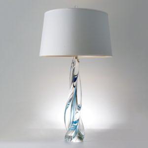 Ocean Twist Glass Table Lamp
