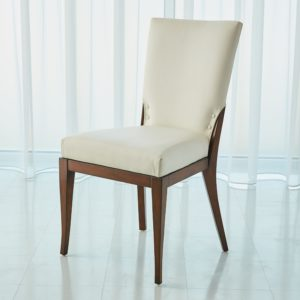 Opera Chair in White Leather