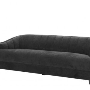 Polaris Channeled Sofa in Blasc