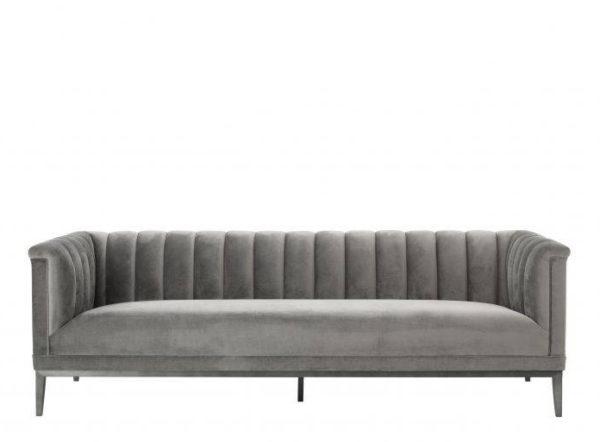 Raffles grey sofa front view