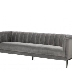 Raffles grey sofa angled view