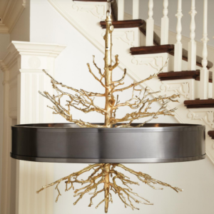 Twig Pendant Chandelier in Bronze