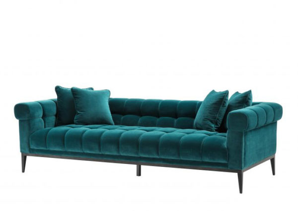 Chesterfield Sofa in Caribbean Green