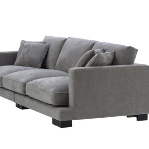 Tuscany sofa in grey angled view