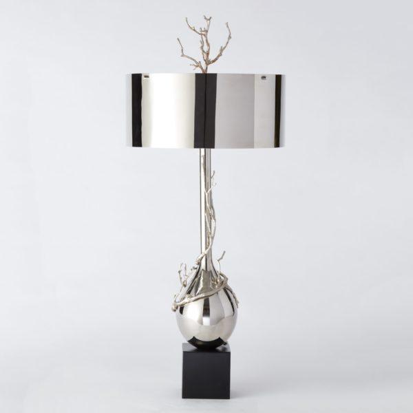 Twig Table Lamp in Nickel