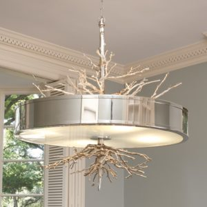 Twig Pendant Chandelier in Nickel finish