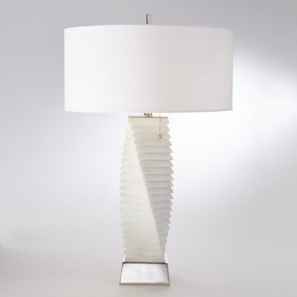 Twisted Marble Table Lamp