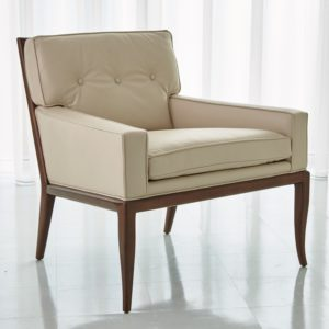 Wilson Beige Leather Chair