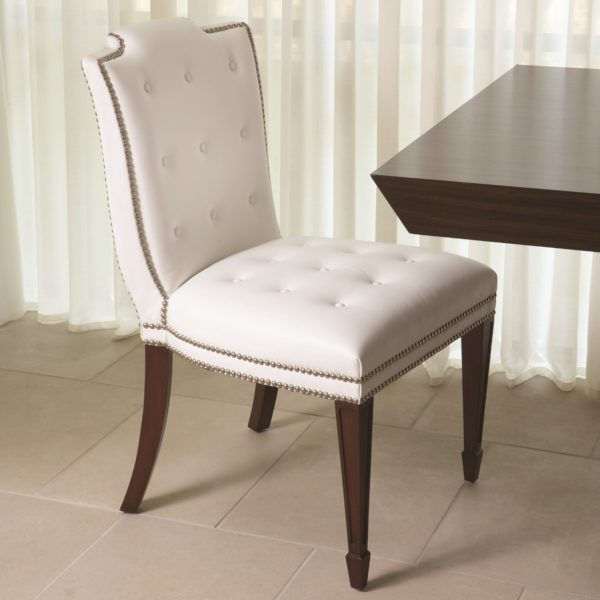 Atlanta chair in white leather