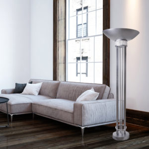 Hammered Ice in Brilliant Silver Floor Lamp