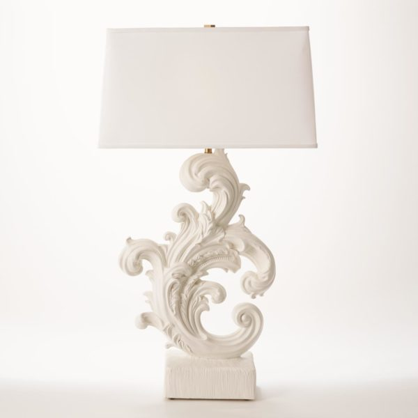Acanthus Lamp in French White finish