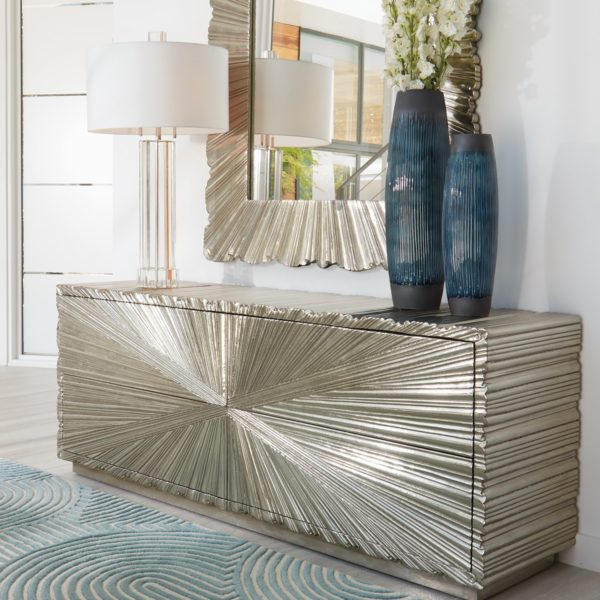 Fluted Crystal Table Lamp