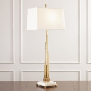 Metropolis Table Lamp in Brass