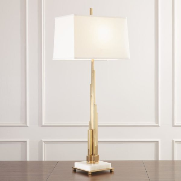 Metropolis Table Lamp in Brass