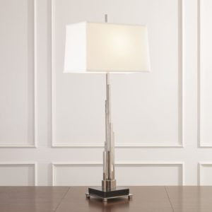 Metropolis Table Lamp in Nickel