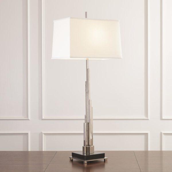 Metropolis Table Lamp in Nickel