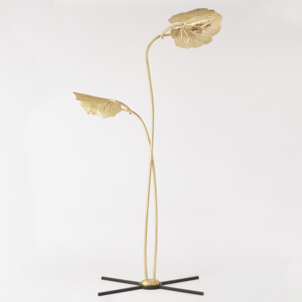 Gold Leaf Floor Lamp