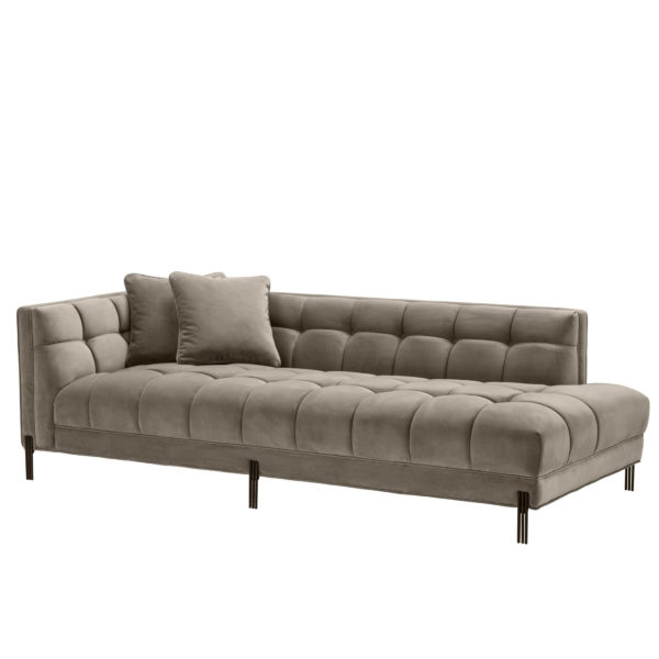 Chandler Lounge Sofa in latte color right facing.