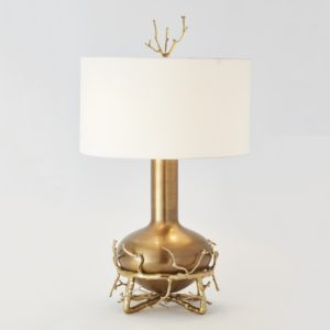 Twig Fat Table Lamp Brass