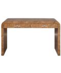Burl wood desk in dark finish