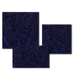 Mongolian Fur Pillow in Cobalt Blue color