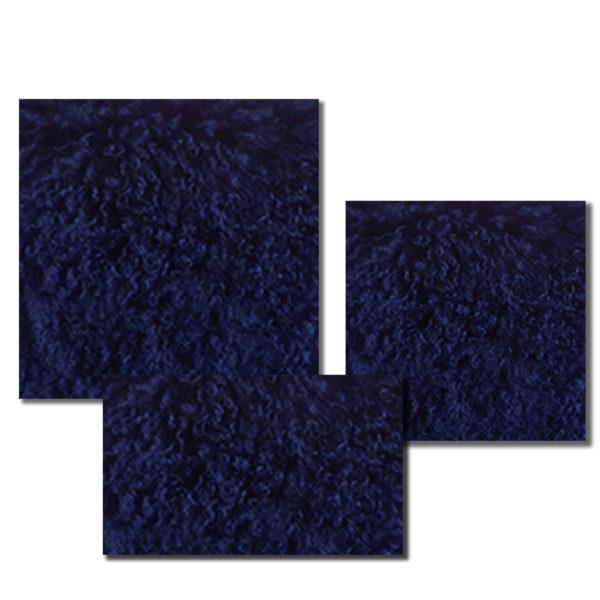Mongolian Fur Pillow in Cobalt Blue color