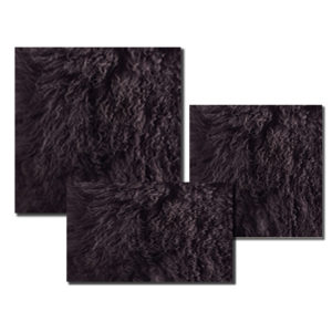 Mongolian Fur in Dark Grey color.