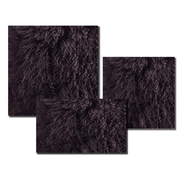 Mongolian Fur in Dark Grey color.