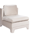 Slipper Cream Chair side angle