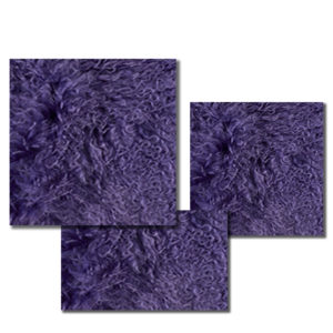 Mongolian Fur Pillow in Vibrant Violet.