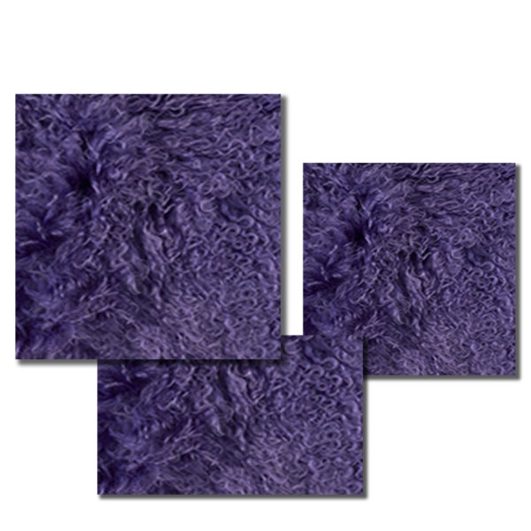 Mongolian Fur Pillow in Vibrant Violet.