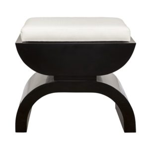 Black Lacquer Stool front side