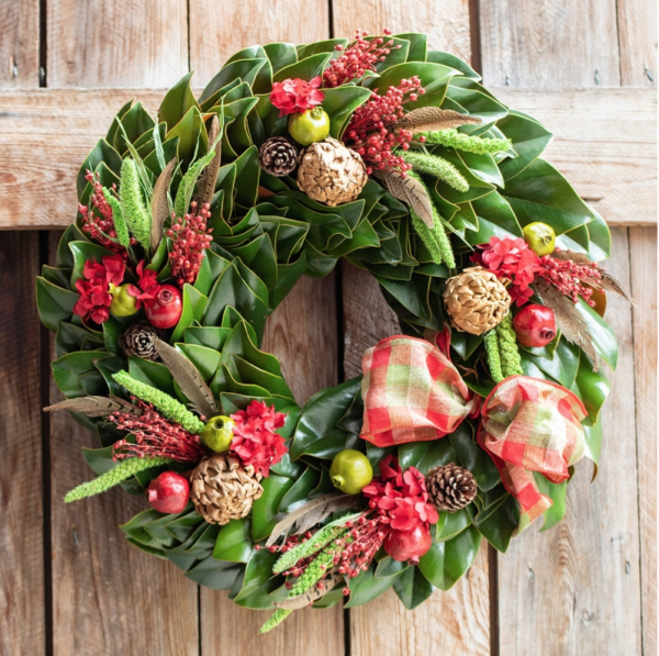 Magnolia Holiday Wreath