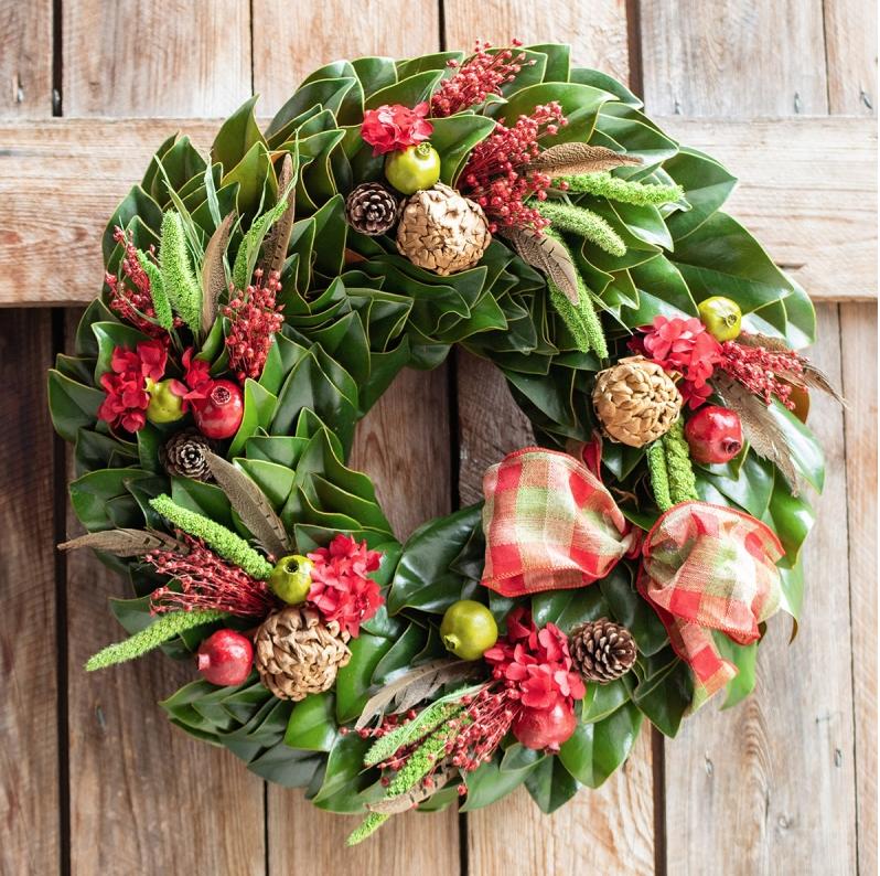 Magnolia Holiday Wreath