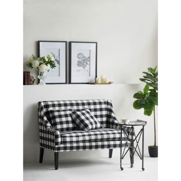 Classic Gingham Settee