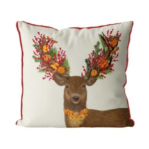 Christmas Deer with Orange accents