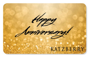 Happy Anniversary Gift Card in Gold