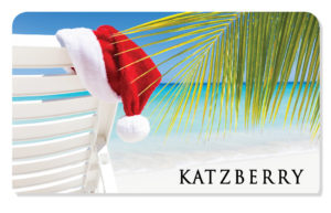 Holiday eCard with beach and Santa hat