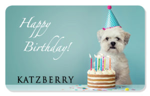 Gift Card for Happy Birthday with Dog