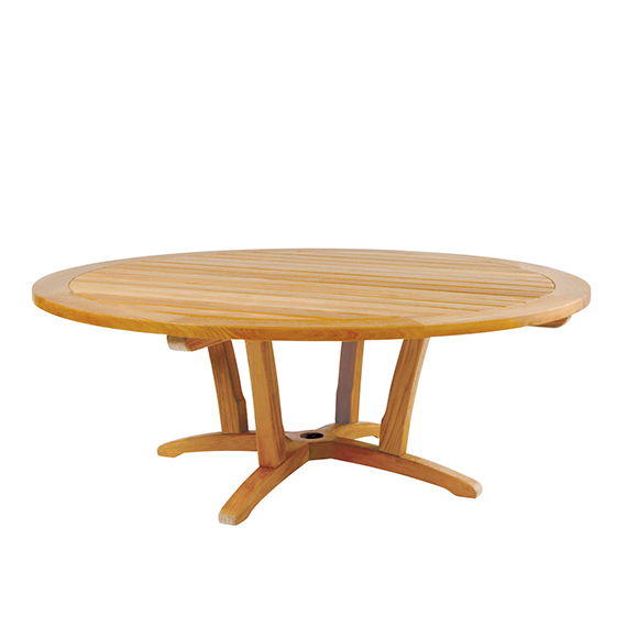 Round Teak Chat Table