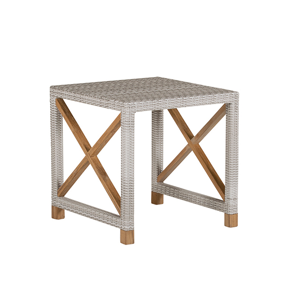 Jupiter Wicker in Cool Grey Side Table