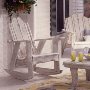 Nantucket rocking chair in white wash finish