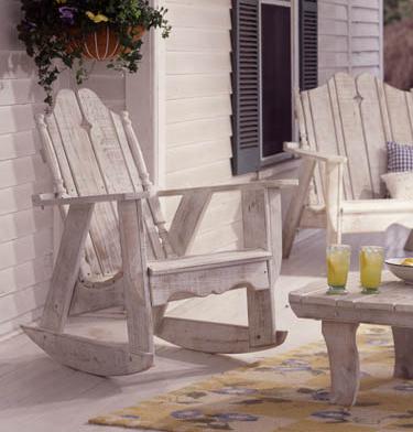 Nantucket rocking chair in white wash finish