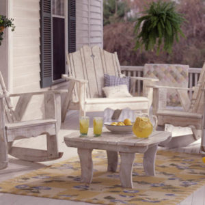 Nantucket Chair set in white wash finish