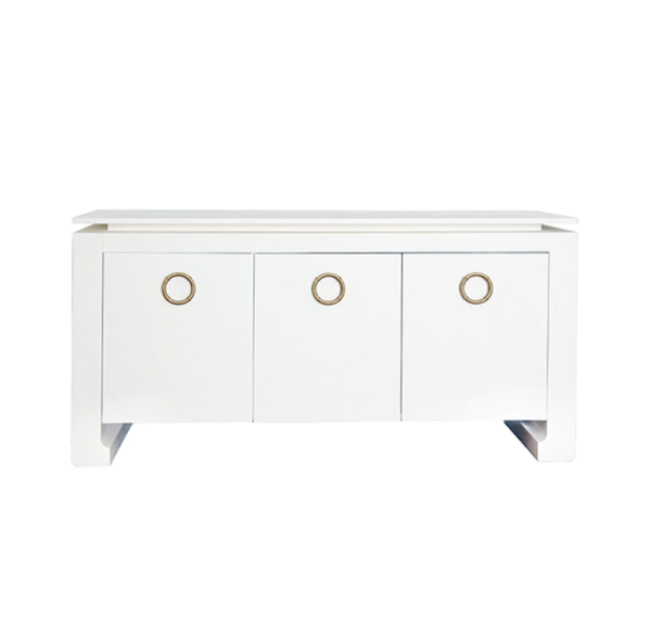 Tilly White cabinet front view