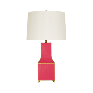 Pagoda Tabletop Lamp in Pink