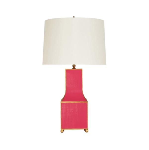Pagoda Tabletop Lamp in Pink