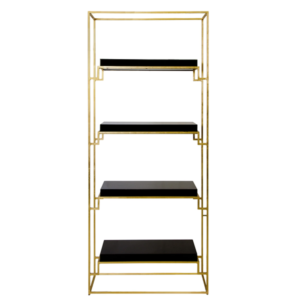 Gold Leaf shadow block Etagere