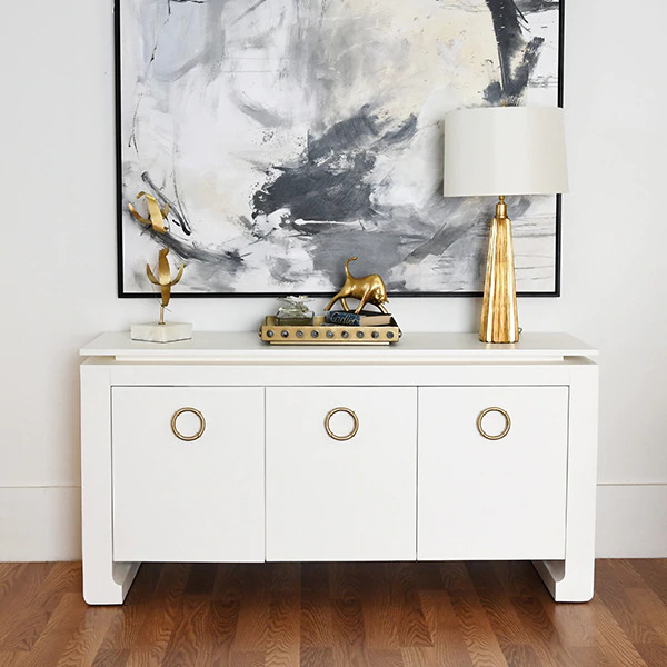 Tilly White cabinet lifestyle photo